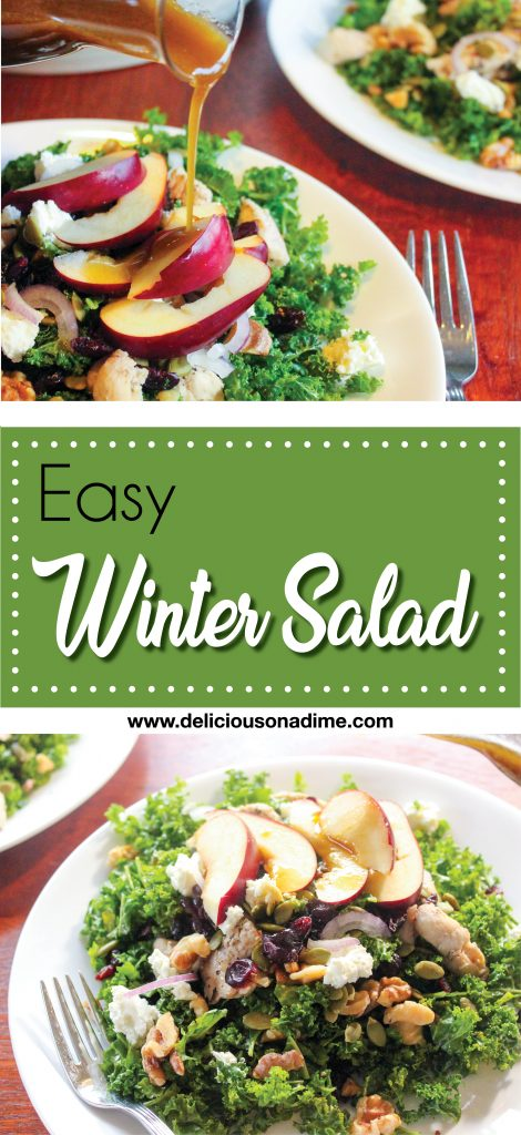 Easy Winter Salad - This hearty and fresh Easy Winter Salad is delectable any time of the year!