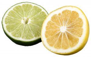 Sliced lime and lemon.