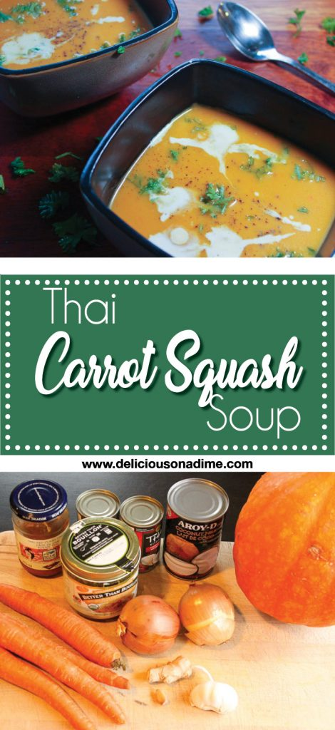 Thai Carrot Squash Soup - Deliciously deep flavored, creamy soup