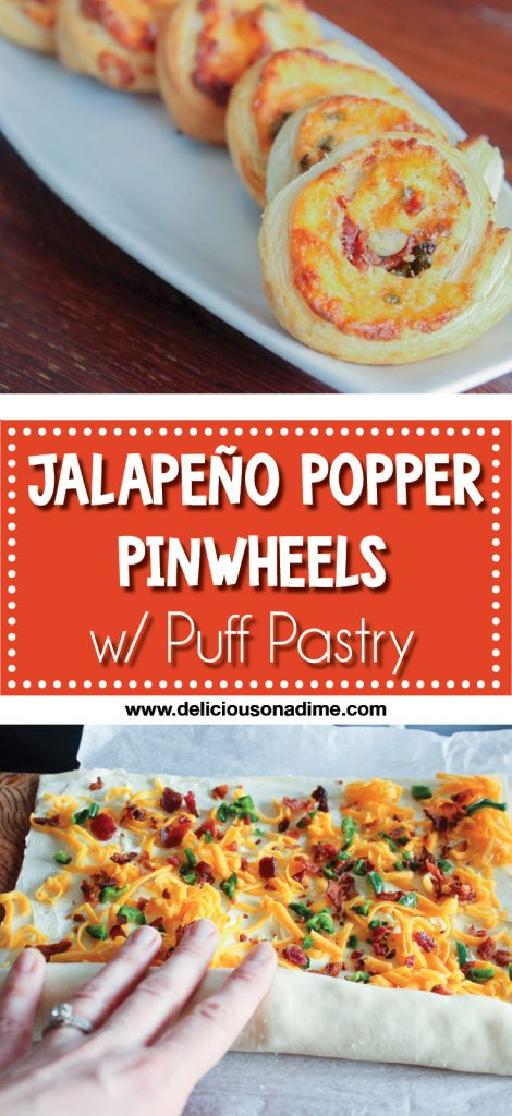 Jalapeno Popper Pinwheels - with Puff Pastry