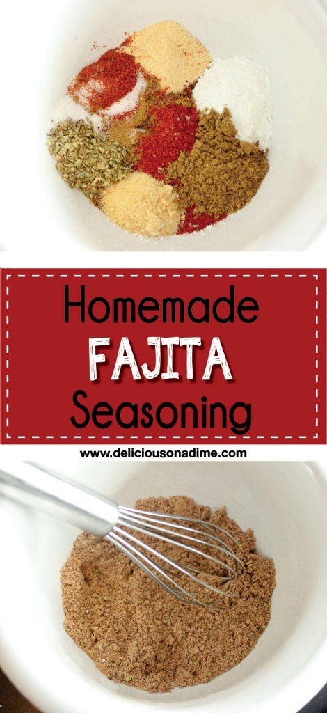 This Homemade Fajita Seasoning Mix takes seconds to make, contains no weird ingredients and tastes