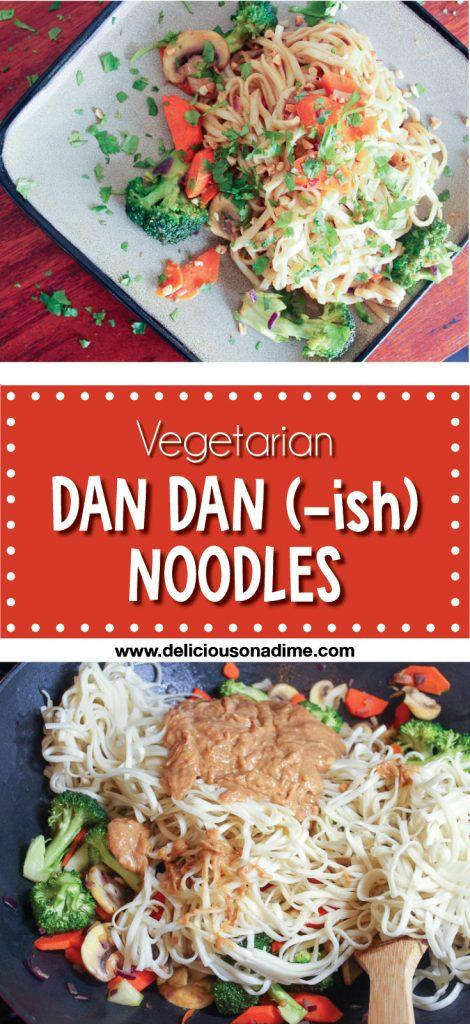 Vegetarian Dan Dan (-ish) Noodles