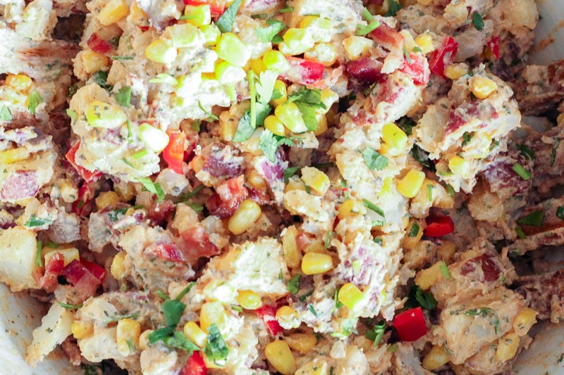 This Healthy Southwest Potato Salad is the perfect summer recipe for barbecue and party season. It's a crowd-pleaser, is easy to whip up and can be made ahead of time. What more could we ask for during these lazy, crazy days of summer?