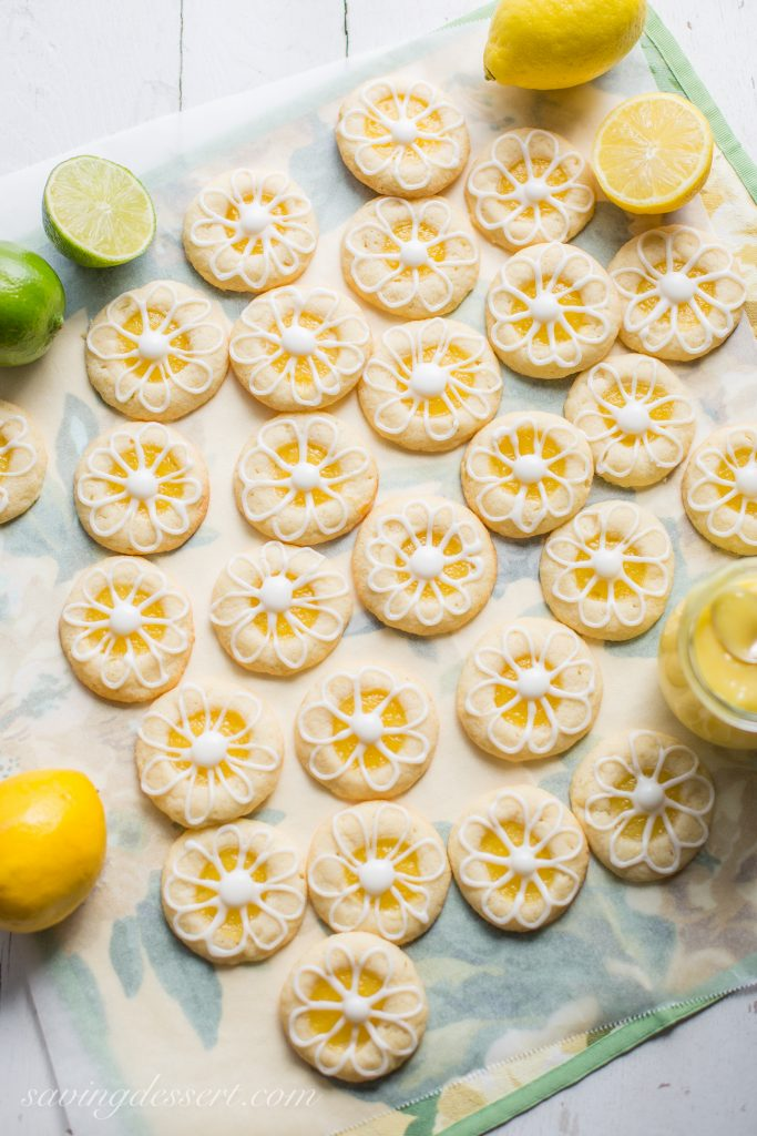 Round Cookies Topped with Lemon Curd.