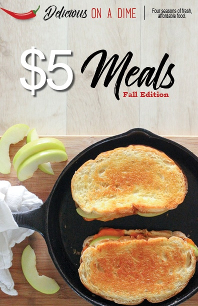 These five $5 meals for fall are perfect for anyone who wants to save money on groceries! Whip up these cozy, hearty meals and warm up your fall, without spending your whole grocery budget!