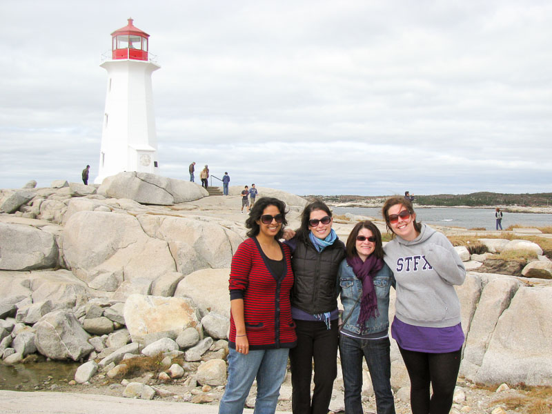 First day I ever ate Warm Gingerbread Cake with Salted Caramel Sauce - on visit to Peggy's Cove