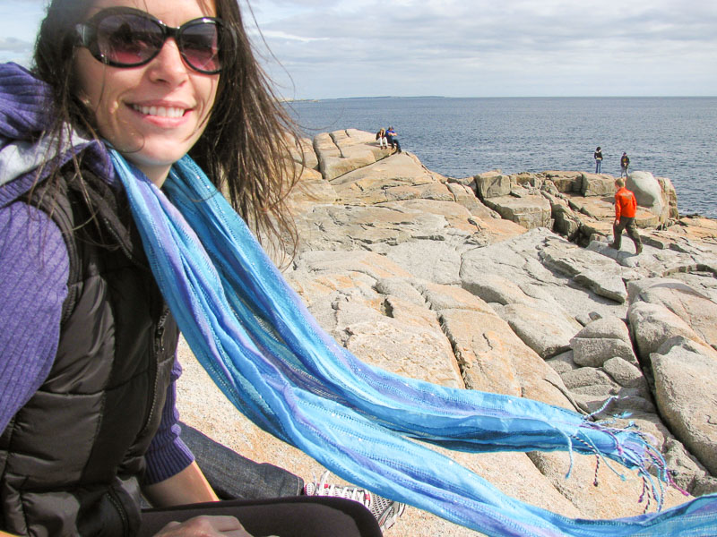Went to Peggy's Cove and ate Warm Gingerbread Cake with Salted Caramel Sauce