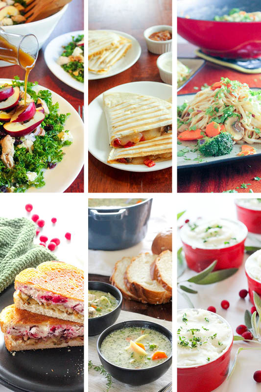 These easy, healthy leftover turkey recipes are the best! Whether you're looking for ways to use up Christmas or Thanksgiving leftovers, or just a rotisserie chicken, these quick recipes are perfect for dinner tonight, lunch tomorrow, or for the freezer!