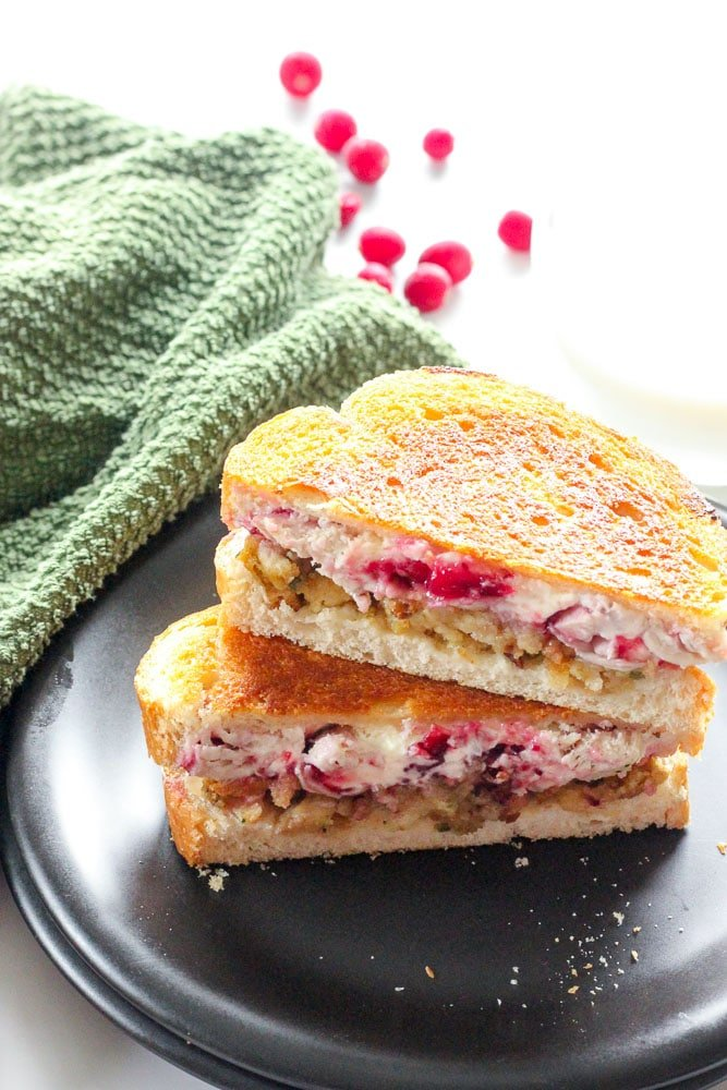 Grilled Turkey Cranberry Cream Cheese Sandwiches are awesome! All of these easy, healthy leftover turkey recipes are the best! Whether you're looking for ways to use up Christmas or Thanksgiving leftovers, or just a rotisserie chicken, these quick recipes are perfect for dinner tonight, lunch tomorrow, or for the freezer!
