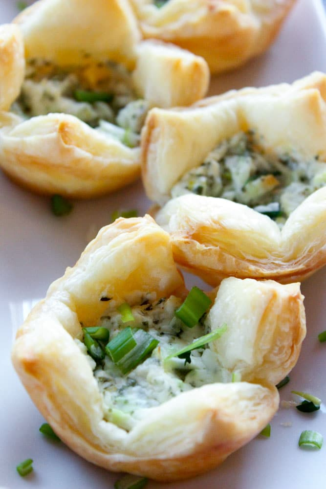 Light and elegant, these make the best finger food for any kind of party! Herb and Goat Cheese Puff Pastry Bites - An Easy Party Appetizer!
