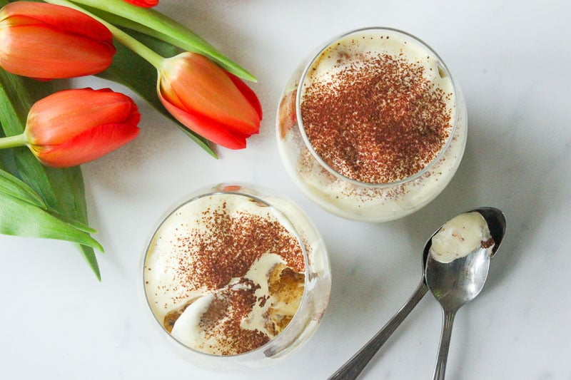 Easy Tiramisu for Two is delicious and cheaper than traditional tiramisu