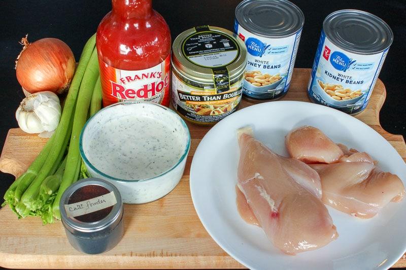 Healthy Buffalo Chicken Chili - Ingredients