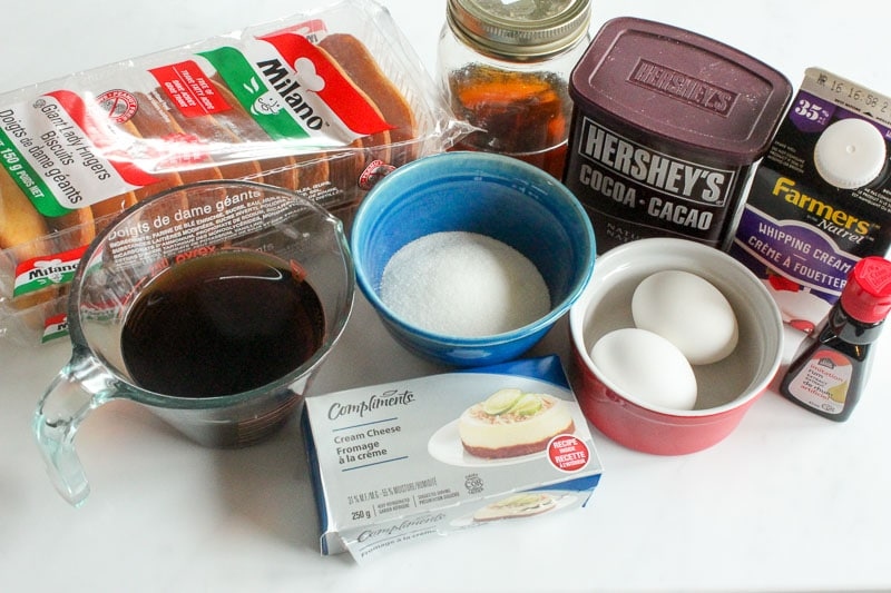 Ingredients for Easy Tiramisu for Two