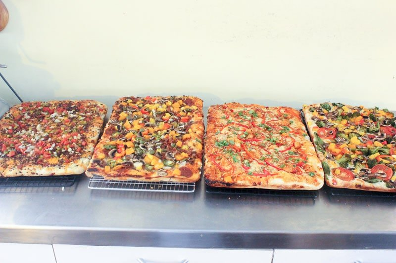 Pizzas are cooked and cooled for Homemade Freezer Pizza - Easy Freezer Meals