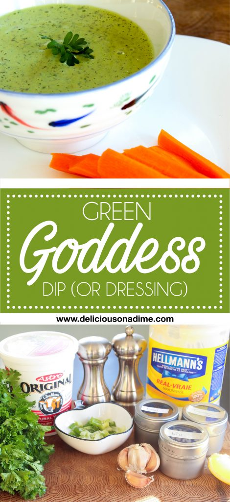 Green Goddess Dip (or dressing) - This Green Goddess dip is fresh, light and filled with herby goodness. It's the perfect remedy once you're sick of heavy holiday food!