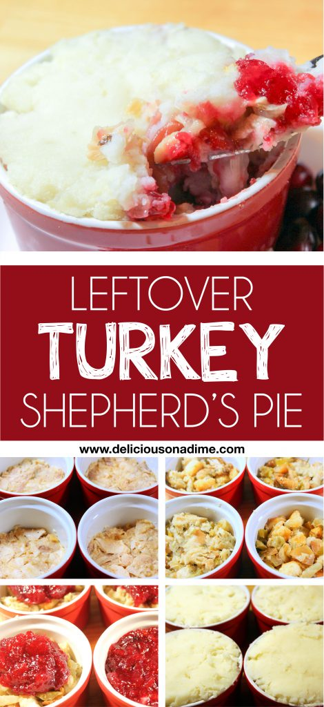 Leftover Turkey Shepherd's Pie - easy, delicious and freezer friendly!