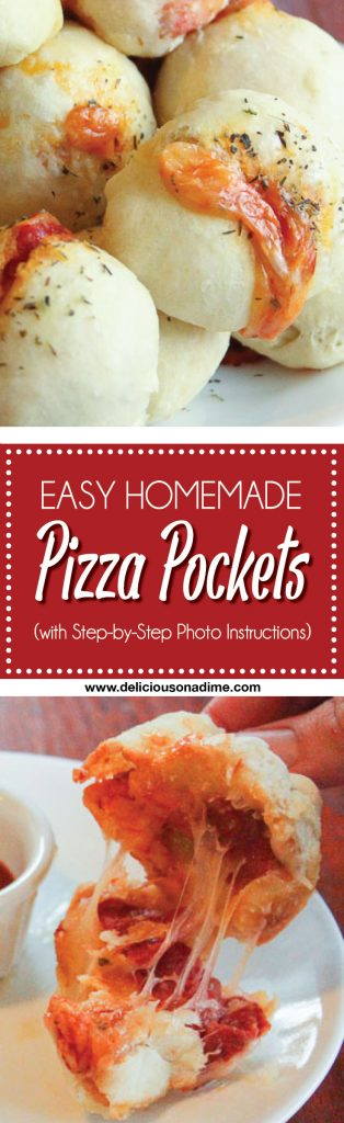 Easy Homemade Pizza Pockets that are warm, cheesy and simple to make!