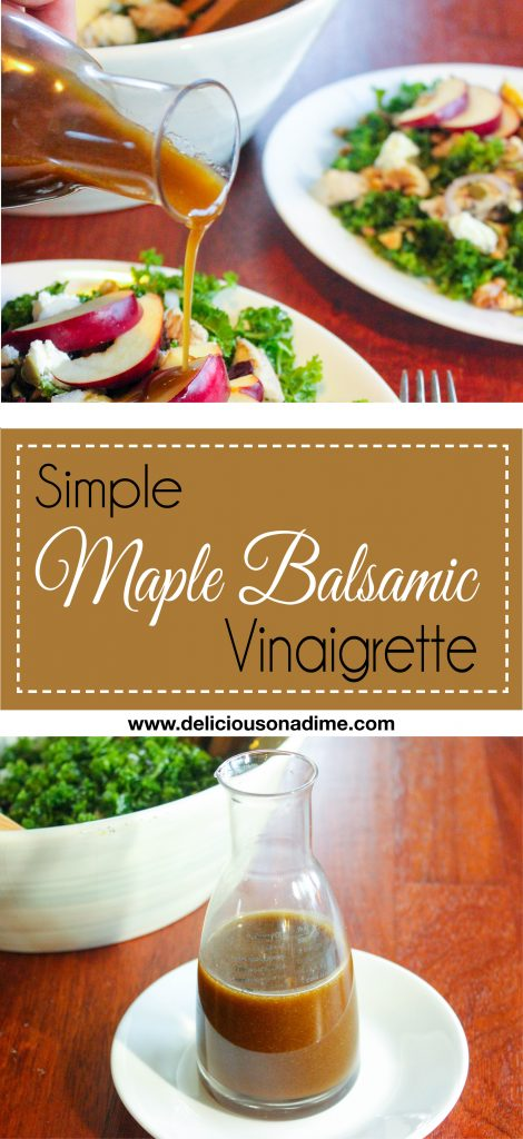 Simple Maple Balsamic Vinaigrette - Ready to Eat Simple Maple Balsamic Vinaigrette