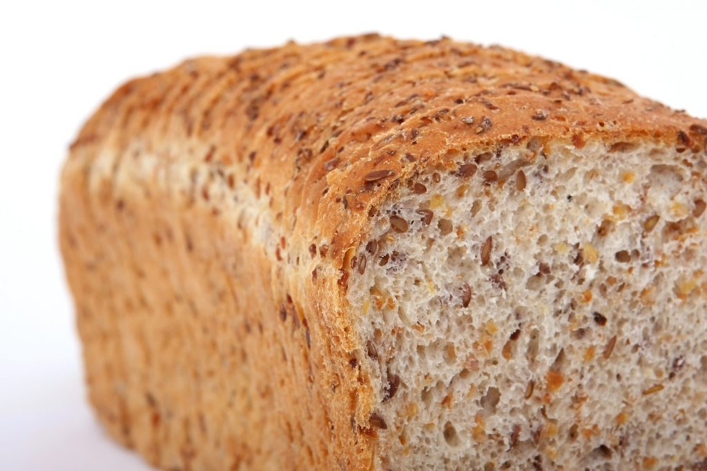 Loaf of Whole Grain Wheat bread.