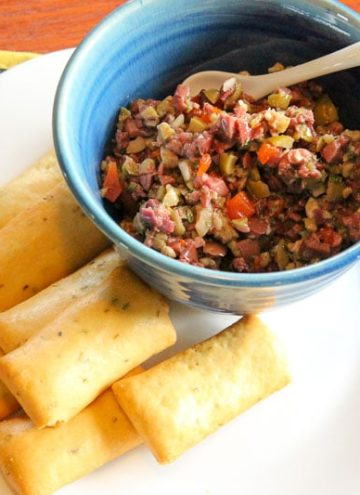 Quick Olive Tapenade- With Black or Green Olives