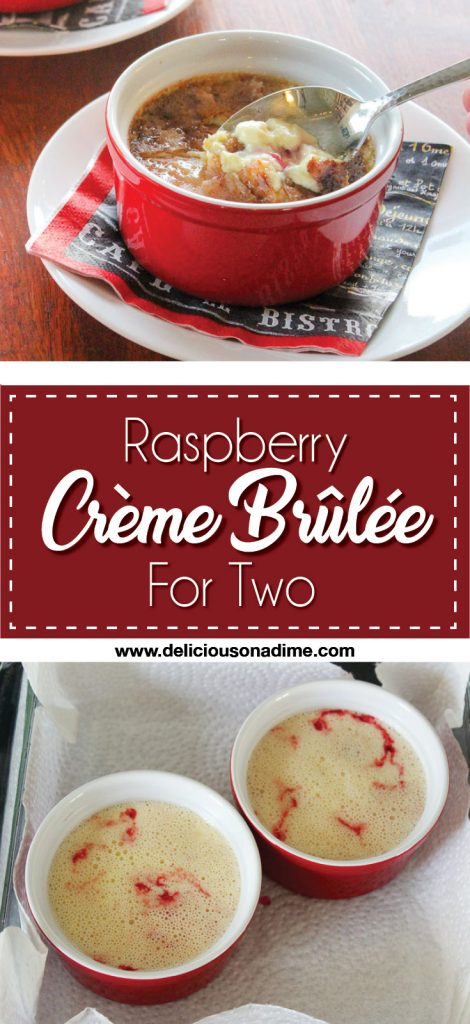 Raspberry Creme Brulee - For Two