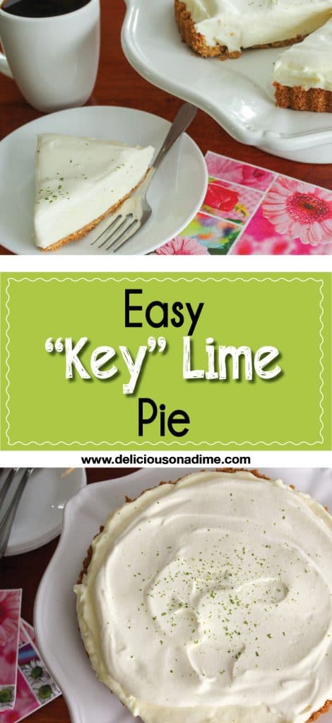 "This Easy ""Key"" Lime Pie is deliciously light and comes together in just a few minutes of active time, using pantry ingredients and some limes!"