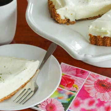 """This Easy """"Key"""" Lime Pie is deliciously light and comes together in just a few minutes of active time, using pantry ingredients and some limes!"""