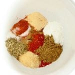 This Homemade Fajita Seasoning Mix takes seconds to make, contains no weird ingredients and tastes even better than the store bought version!