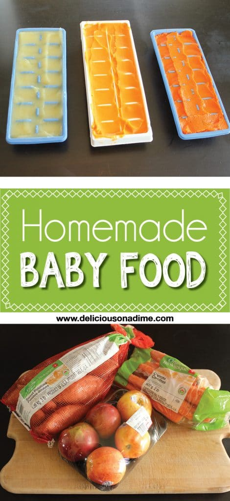 Homemade Baby Food Puree is easy to make at home and cheaper than store-bought. You can use organic fruit and vegetables and feel great about feeding it to your baby!