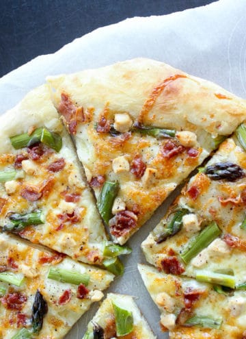 Asparagus Bacon Goat Cheese Pizza