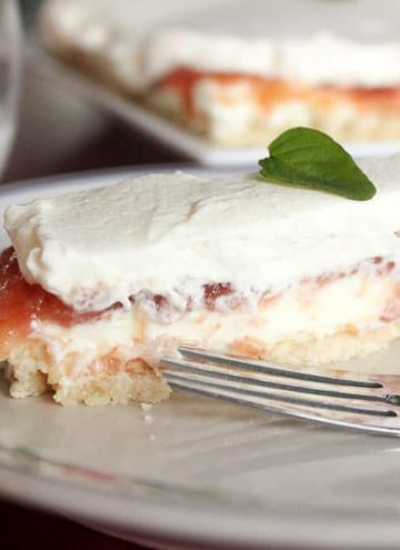 Creamy Rhubarb Tart – a perfect Mother's Day dessert!
