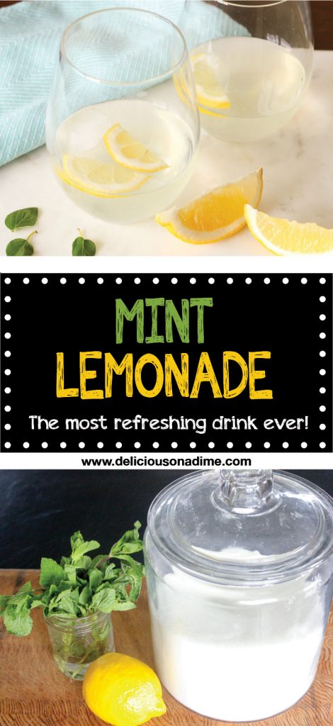 Mint Lemonade - The Most Refreshing Drink Ever - there is absolutely nothing more refreshing on a hot summer day than this easy to make, cheap mint lemonade. Only 5 minutes of active time!