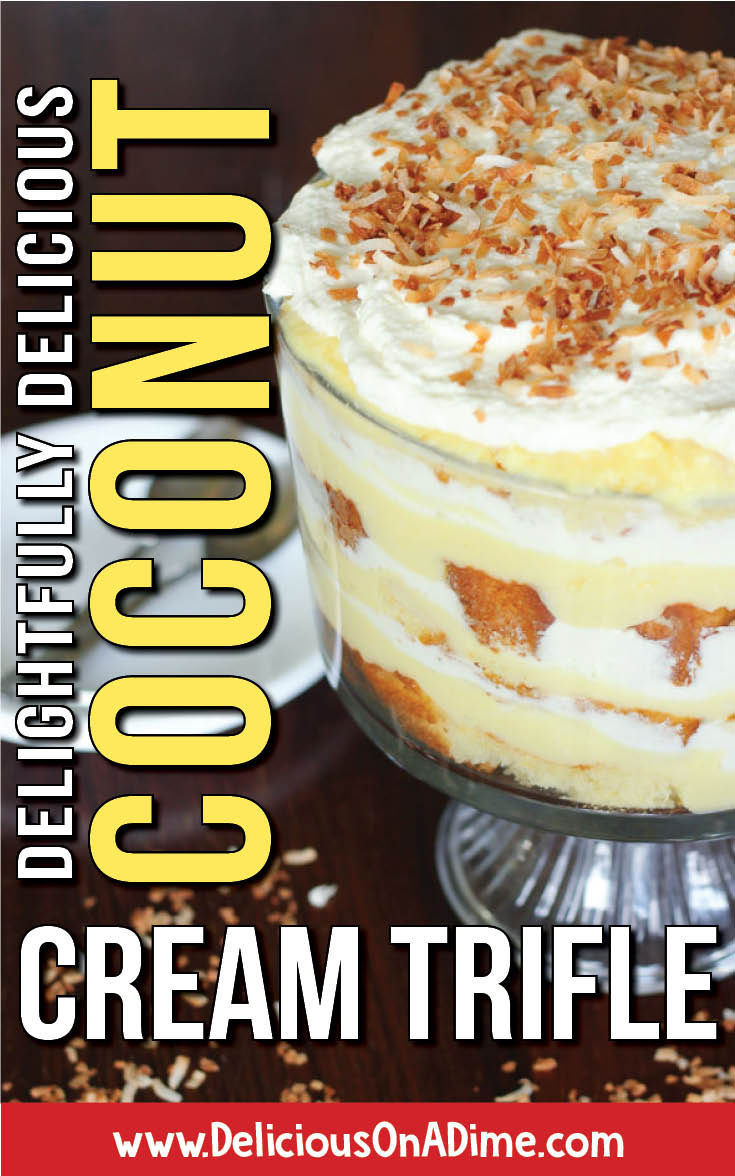 Looking for an EASY, make ahead dessert for a summer bbq, potluck, dinner party or special occasion at ANY time of year?!  If you love coconut cream pie (who doesn't?!), try this easy trifle!  