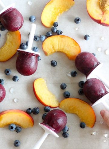 Blueberry Peach Popsicles – a sweet end of summer treat