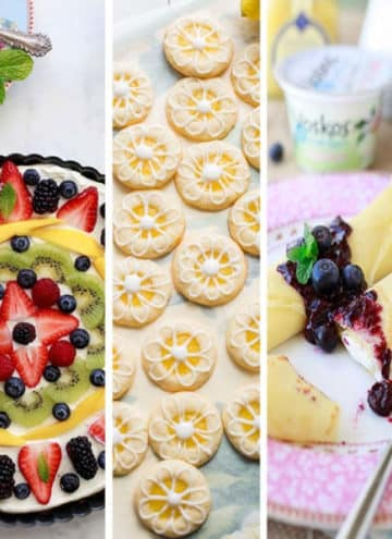 Photo collage of lemon curd recipes.