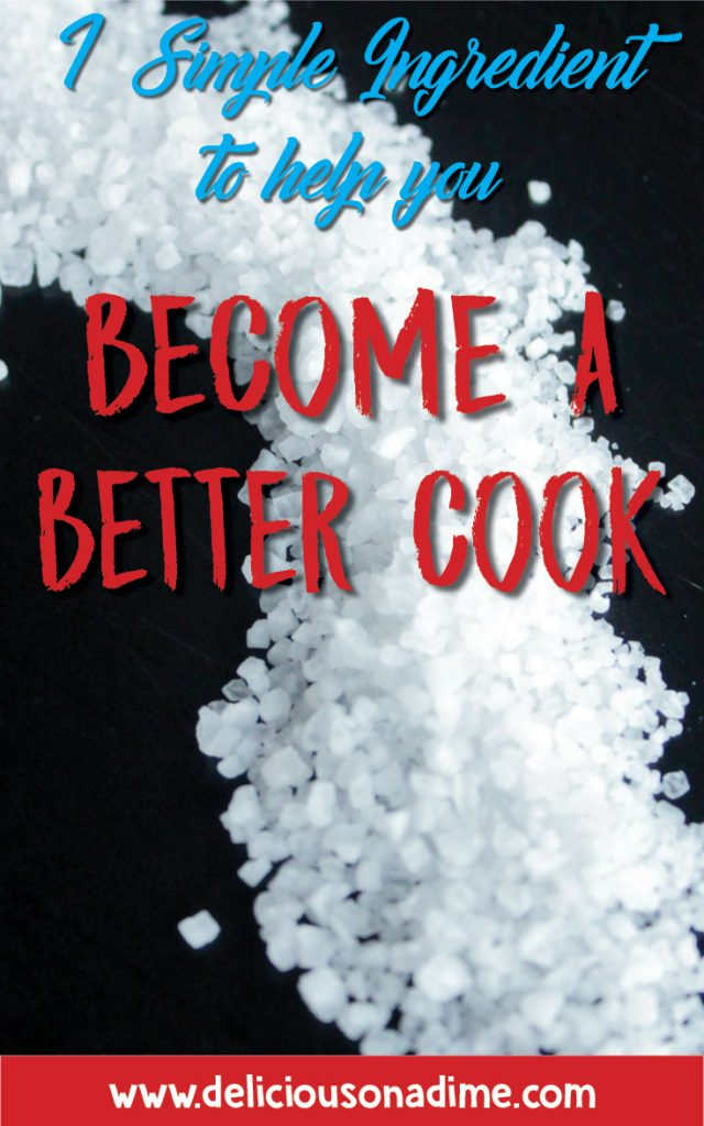 The most important ingredient in your kitchen isn't anything expensive or hard to get your hands on. It's super simple and absolutely essential to great cooking. If you're not using salt in your cooking you're selling yourself short. Learn to use salt in your cooking and become a better cook today.