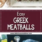 This Easy Greek Meatballs recipe packs a TON of flavour into little tiny meatball packages! They're easy to make, bake quickly in the oven, and freeze super well. This recipe uses just a few pantry staples for a delicious, garlicky, meal, infused with delicious herbs. Who doesn't need an easy and delicious freezer meal at this (or any!) time of year?