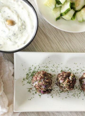 Easy Greek Meatballs (Baked!)