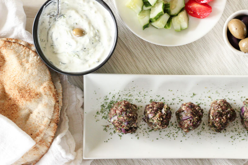 Easy Greek Meatballs (Baked!)
