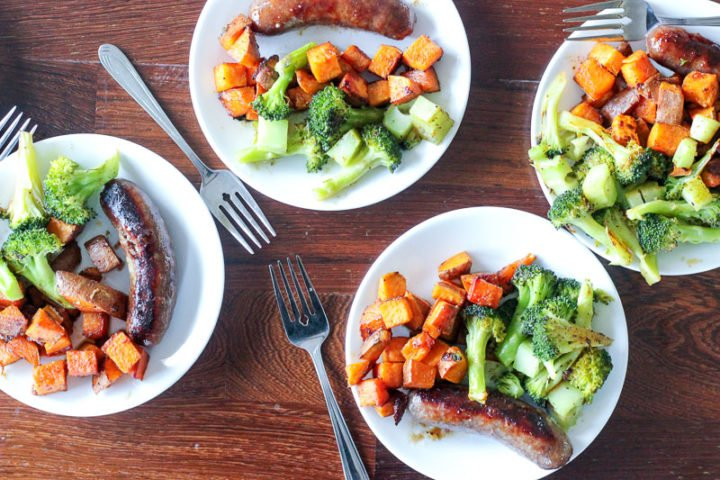 ThisSausage and Cajun Sweet Potato Sheet Pan Dinner recipe is on the table in 25 minutes and is easy easy easy! Make it as a quick weeknight supper, or do your lunch prep for the entire week! You can customize the cajun spice to make it spicy or completely mild. It's delicious!