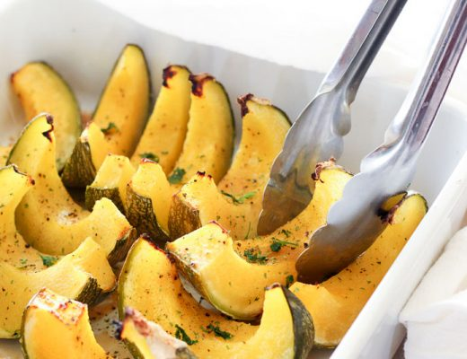 Easy Oven Baked Maple Squash is the perfect fall side dish