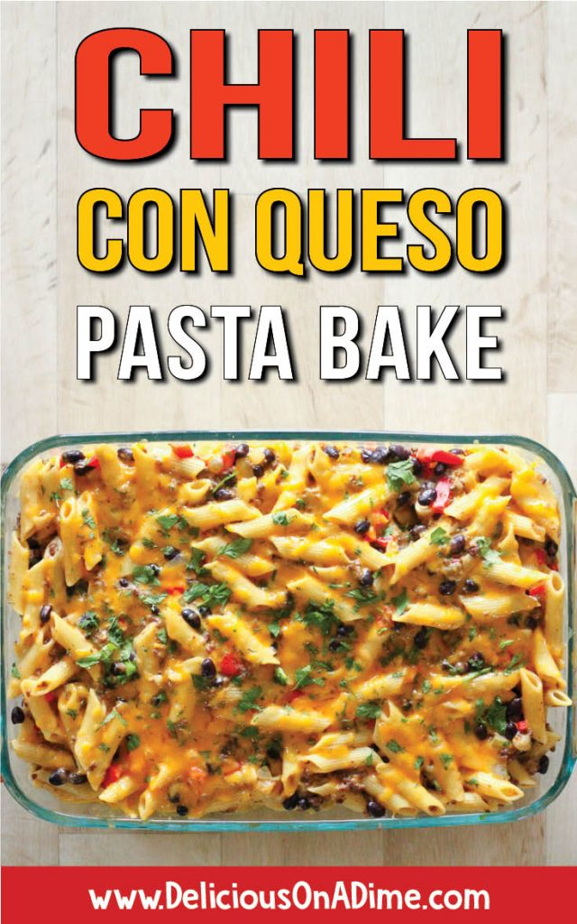 This Chile Con Queso Pasta Bake is for everyone who has to pry themselves away from the con queso dip (like I do!). Healthy, cheap and easy to make, it'll help you get your queso fix in delicious cheesy, creamy pasta form. YUM!