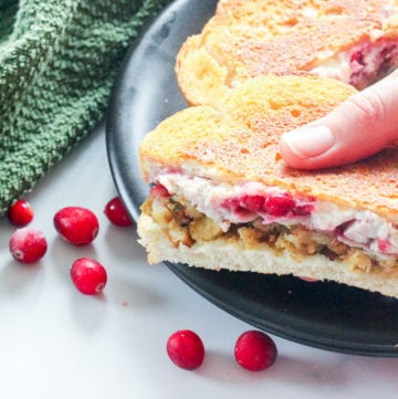 Grilled Turkey This Cranberry Cream Cheese Sandwich is such an easy and delicious way to use Thanksgiving or Christmas dinner leftovers