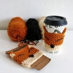 Crocheted Coffee Cup Warmers.