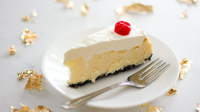 Chocolate Cherry Coconut Cheesecake - tastes like a cherry blossom! - such an easy homemade dessert recipe - for the holidays or anytime!