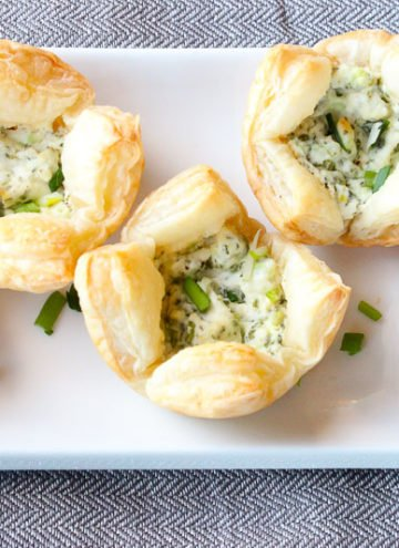 Herb and Goat Cheese Puff Pastry Bites – An Easy Party Appetizer!