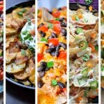 The BEST nacho recipes out there, whether you're into chicken, pulled pork, veggie, steak nachos, low carb nachos, skillet nachos, breakfast nachos or learning how to make nachos with unusual ingredients (like sweet potatoes). We've got you covered - for potlucks, super bowl parties or just a fun evening in. Check out this ultimate list of the most AMAZING and beautiful nachos on the web!