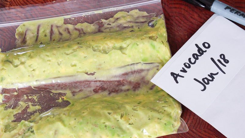 Package your avocado to freeze.