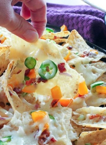 Jalapeno Popper Nachos with Garlic Cream Sauce