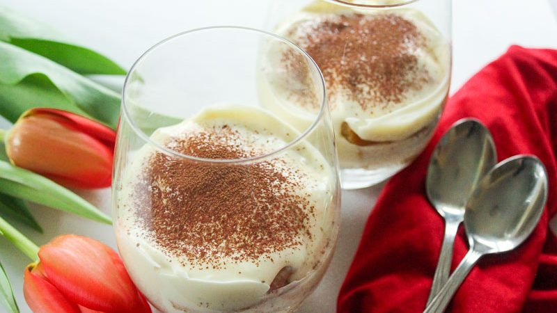 Easy Tiramisu for Two is perfect for Valentine's Day or date night dessert